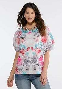 Romantic Floral Top