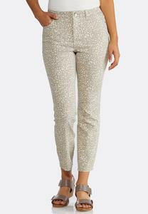 Neutral Animal Print Jeans