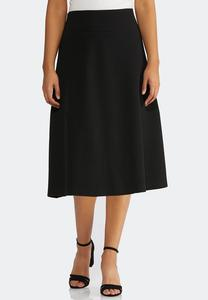 Plus Size Textured A-Line Skirt