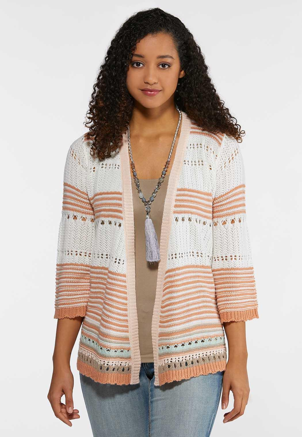 fbcc9a33 Stripe Cardigan Sweater Cardigans & Amp ; Shrugs Cato Fashions