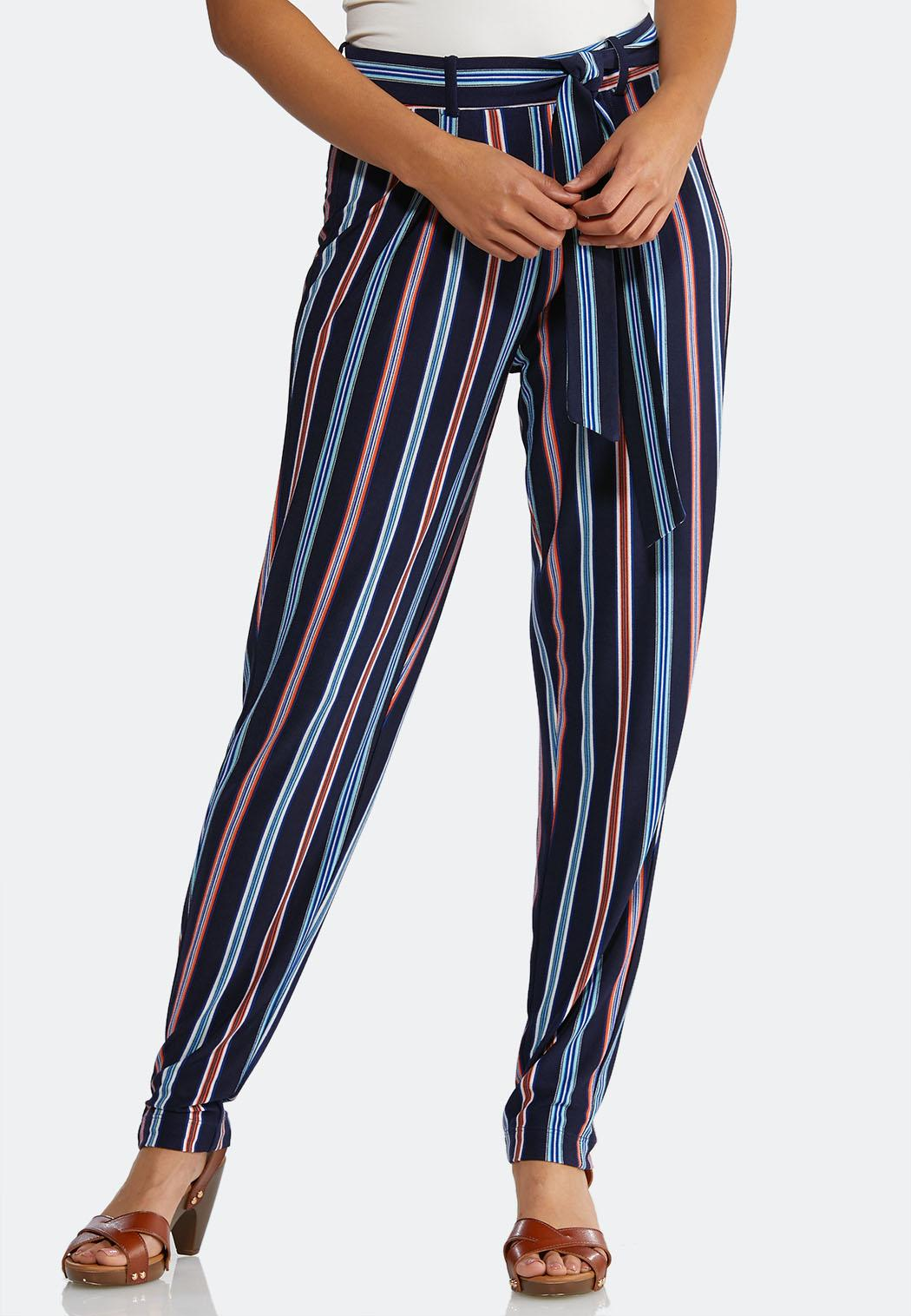 c16f6f201e Stripe Tie Waist Pants alternate view Stripe Tie Waist Pants