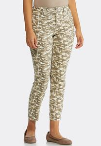 Camo Ankle Jeans
