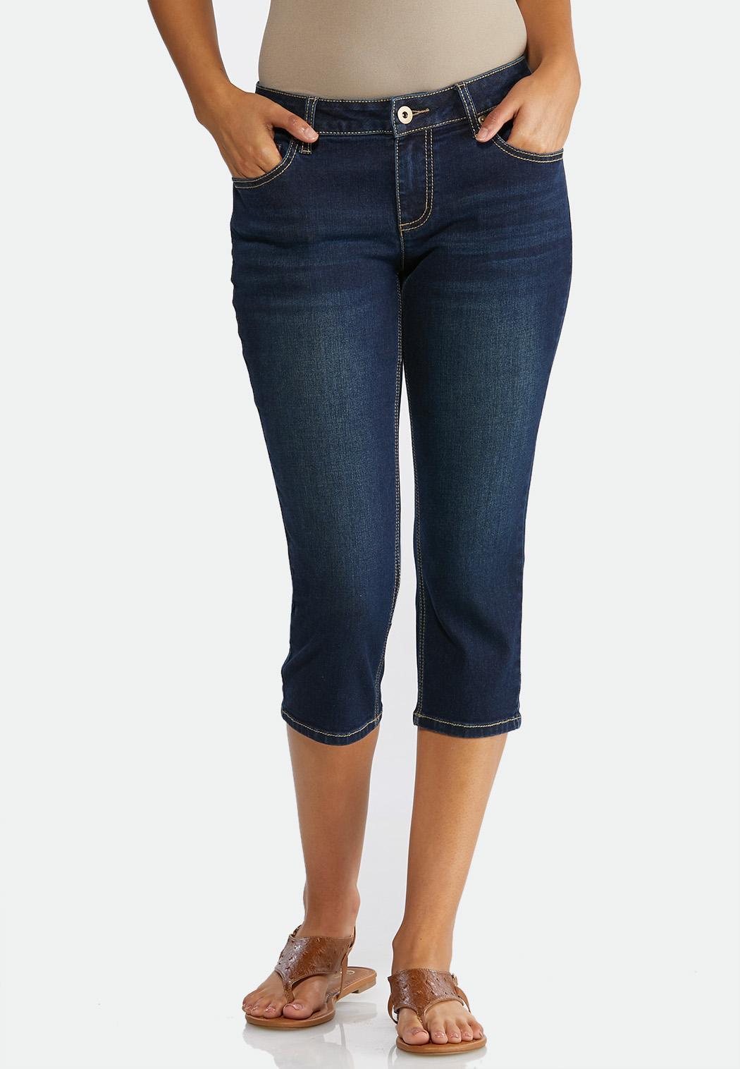 Cropped Heavy Stitch Jeans