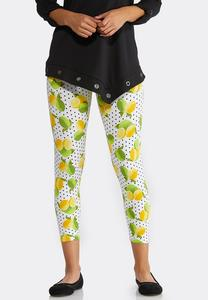 Lemon Lime Cropped Leggings