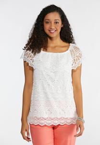 a2bb15e55c054 Plus Size Crochet Convertible Top