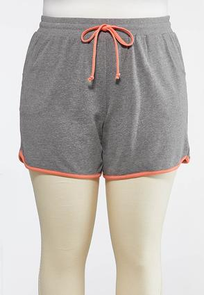 Plus Size French Terry Colorblock Shorts