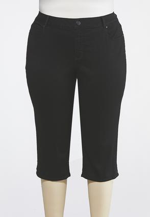 Plus Size Cropped Black Jeans