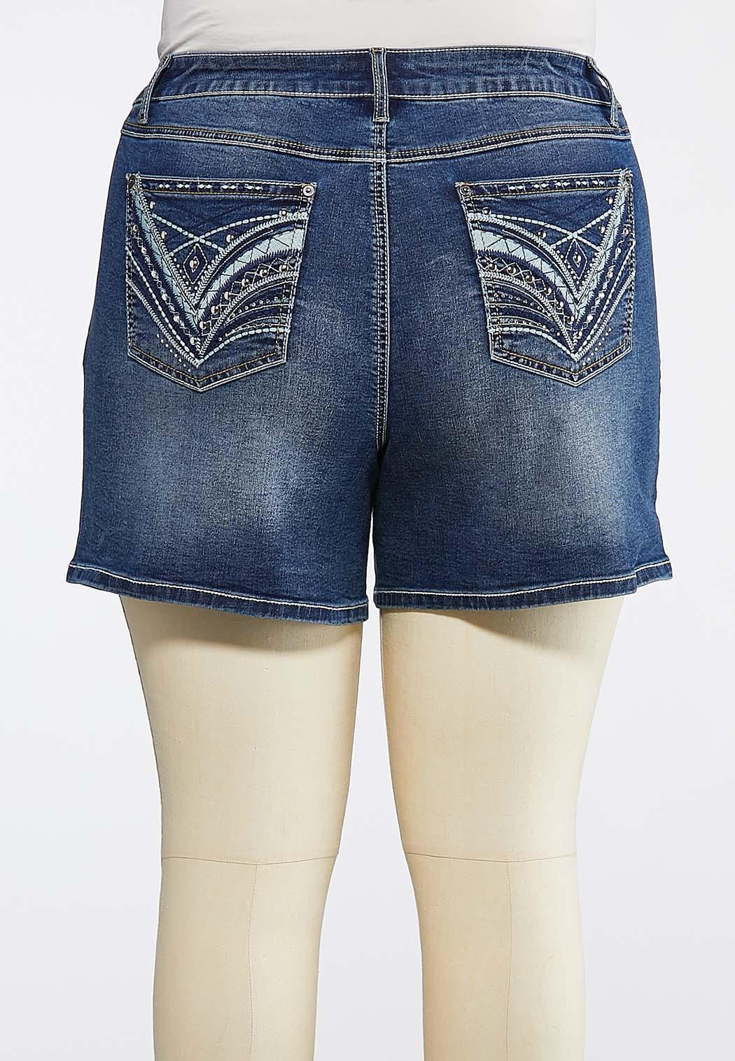 Plus Size Stitch And Stone Denim Shorts