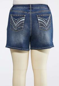 5b40f5ba429 Plus Size Stitch And Stone Denim Shorts