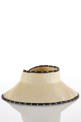 Polka Dot Visor Floppy Hat