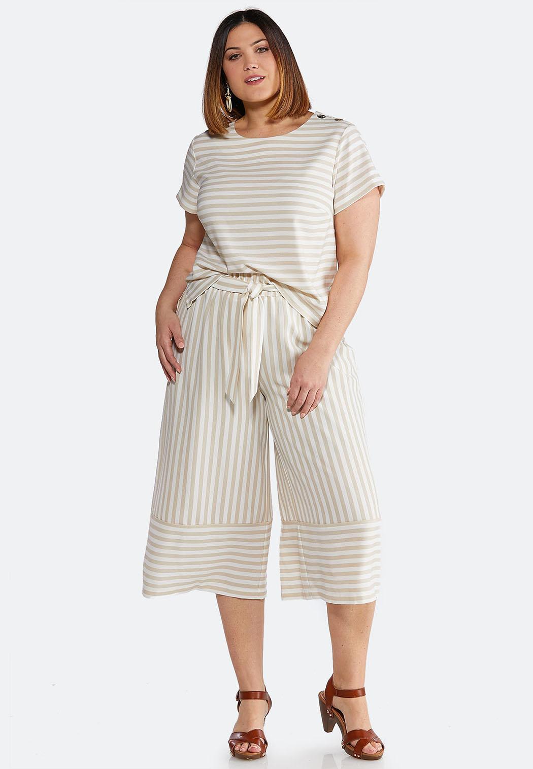 f1b3a4a93da Plus Size Striped Two-Piece Set Plus Sizes Cato Fashions