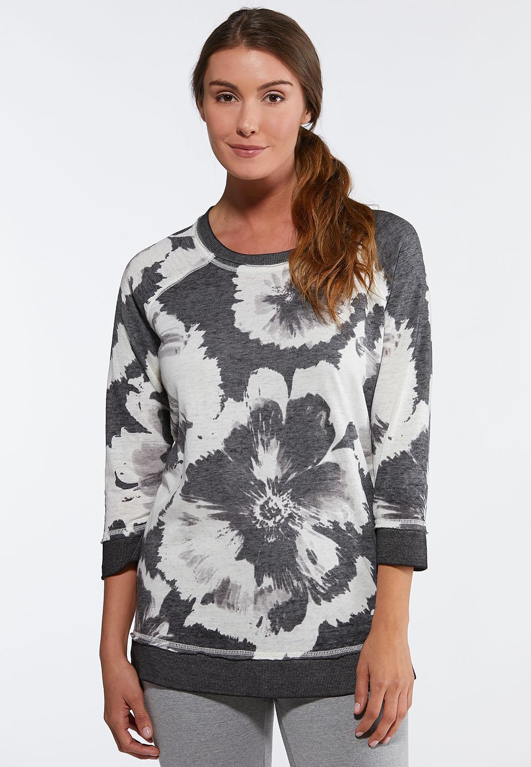 Floral Fleece Top