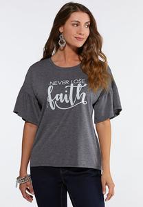 Plus Size Never Lose Faith Tee