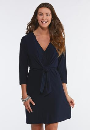 Tie Front Sheath Dress
