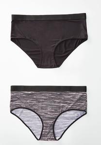 Plus Size Space Dye Stretch Waist Panty Set