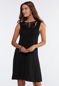 Plus Size Macrame Trim Dress