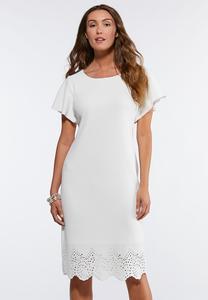 Textured Laser Cut Dress