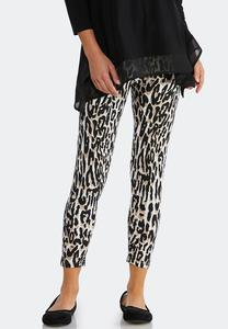 Cropped Animal Print Leggings