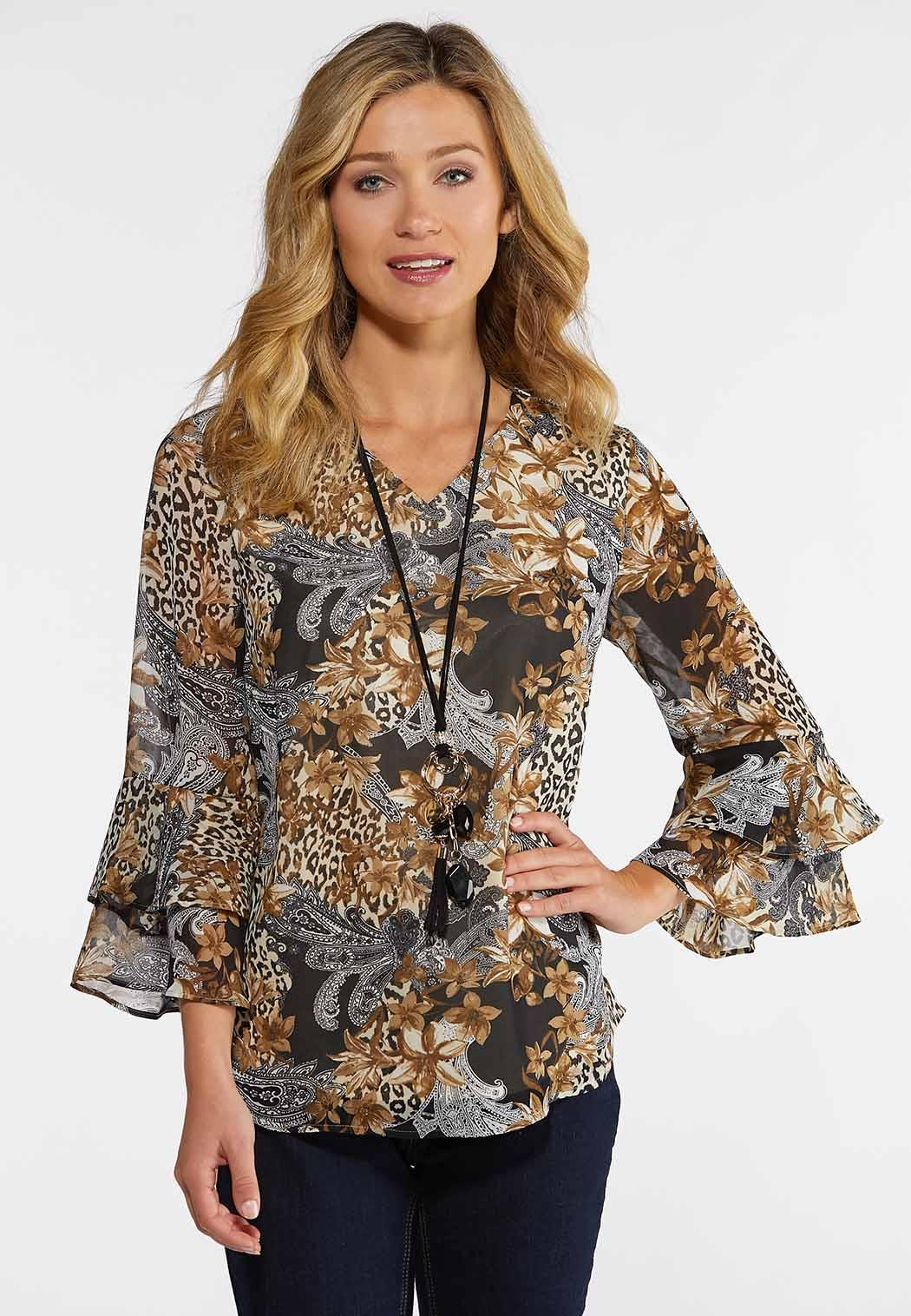 60003b0fd8f Safari Breeze Top Tops Cato Fashions