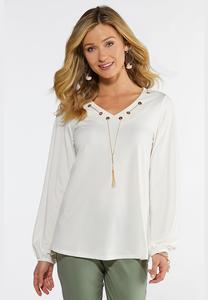 Chain Embellished Top