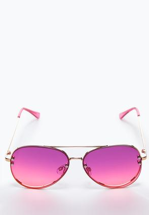 Pink Ombre Aviator Sunglasses
