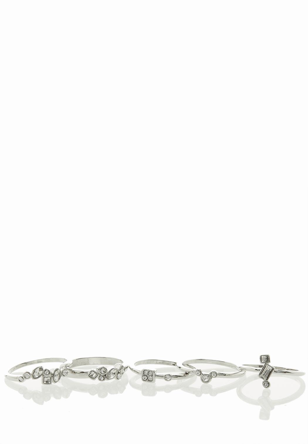 Multi Stone Assorted Ring Set