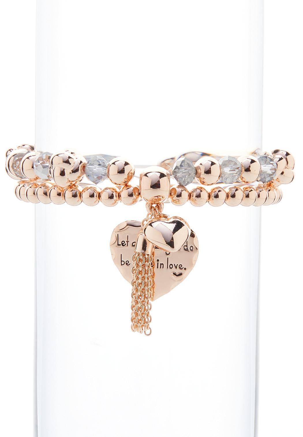 Done In Love Stretch Bracelet