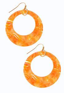 Marbleized Hoop Dangle Earrings