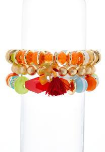 Chunky Bead Stretch Bracelet Set