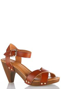 Crossband Cone Heel Sandals