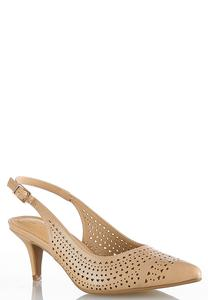 Laser Cut Slingback Pumps