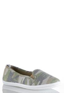 Camo Slip-On Sneakers
