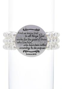 Inspirational Layered Pearl Bracelet