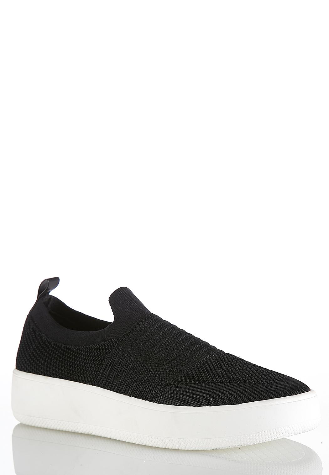 Stretch Knit Slip-On Sneakers