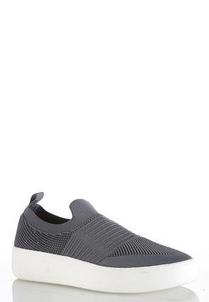 Stretch Knit Slip- On Sneakers
