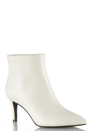 White Pointy Toe Ankle Boots