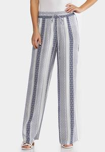 Decorative Stripe Palazzo Pants