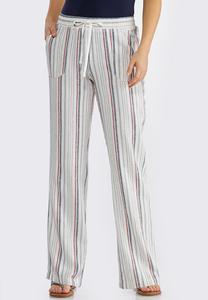 Muted Stripe Linen Pants