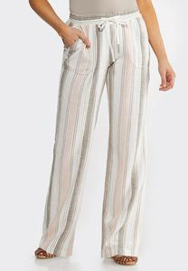 Muted Stripe Linen Pants