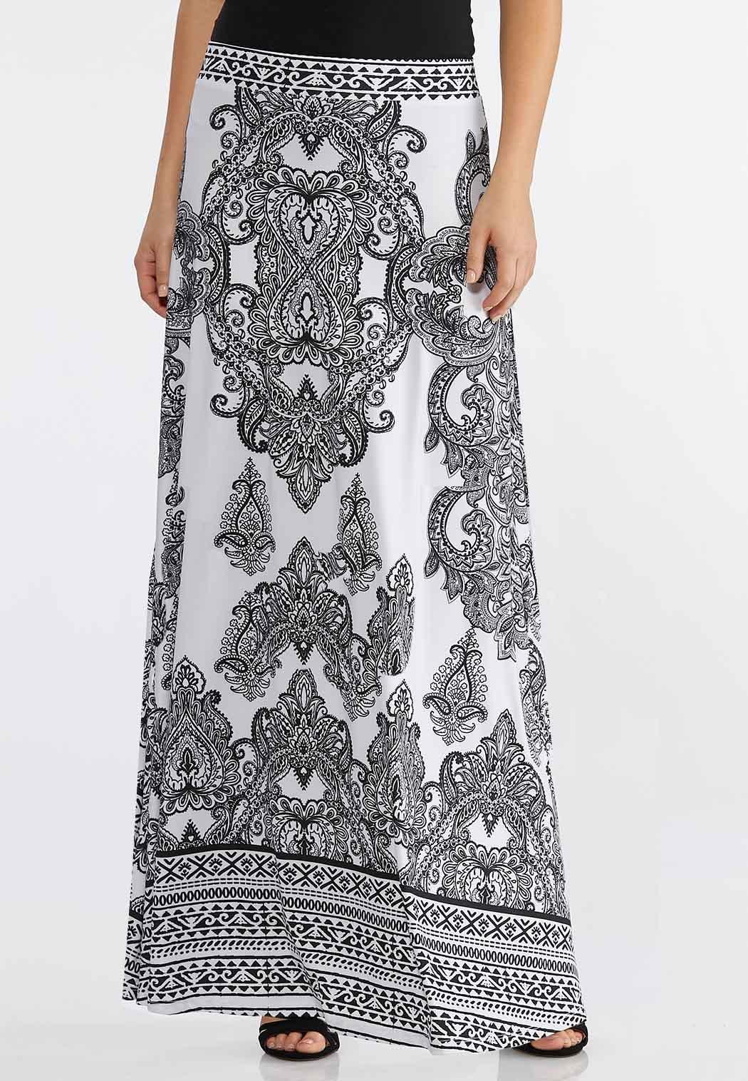 2722e88ef02 Plus Size Black And White Maxi Skirt Maxi Cato Fashions