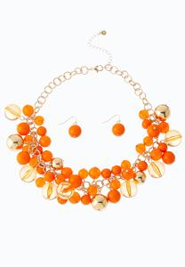 Shaky Cluster Bead Necklace Set