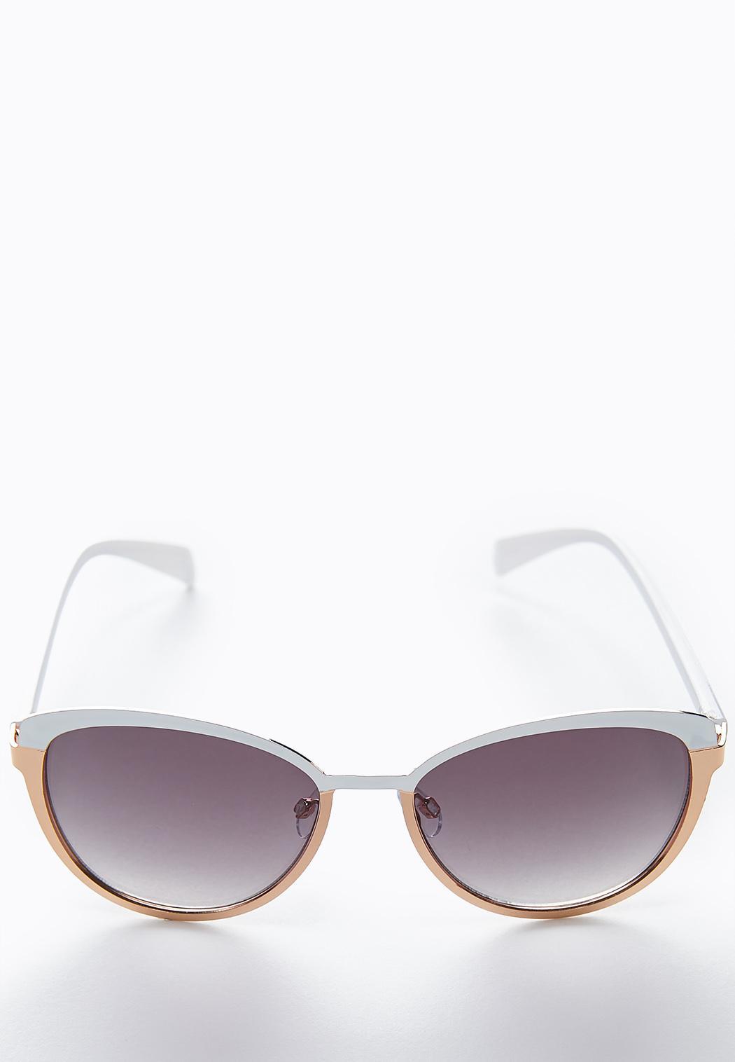Mixed Metal Cateye Sunglasses
