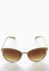 Mixed Metal Cateye Sunglasses