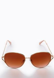 Rose Gold Glam Sunglasses
