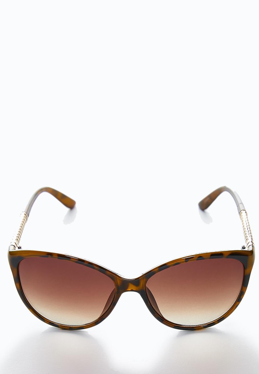 Metal Inset Tortoise Sunglasses