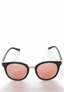 Black Matte Mirrored Sunglasses