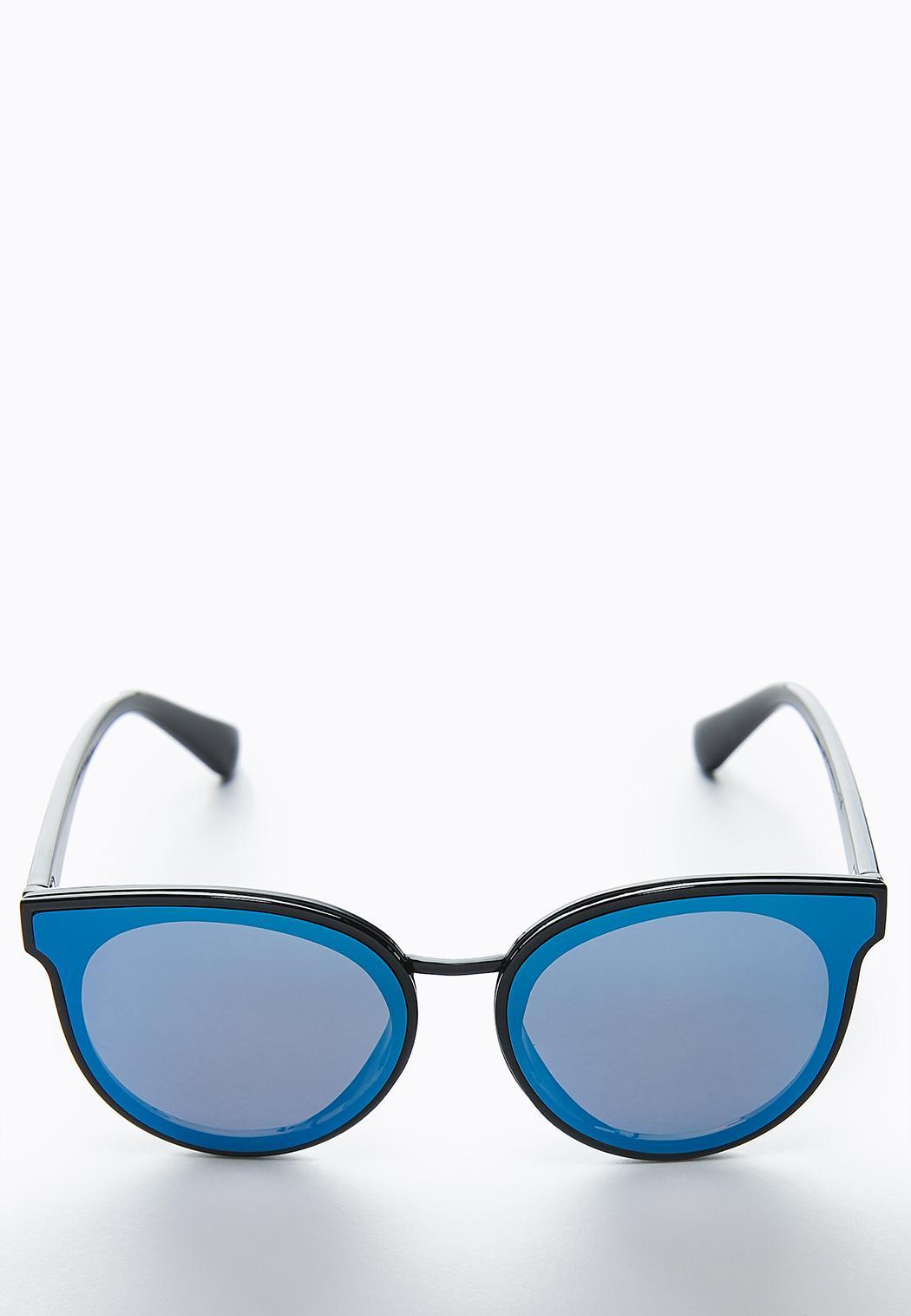 Blue Lens Mirrored Sunglasses