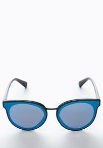 Blue Lens Mirrored Sunglasses