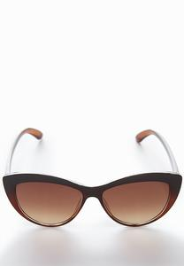 Brown Tinted Cateye Sunglasses