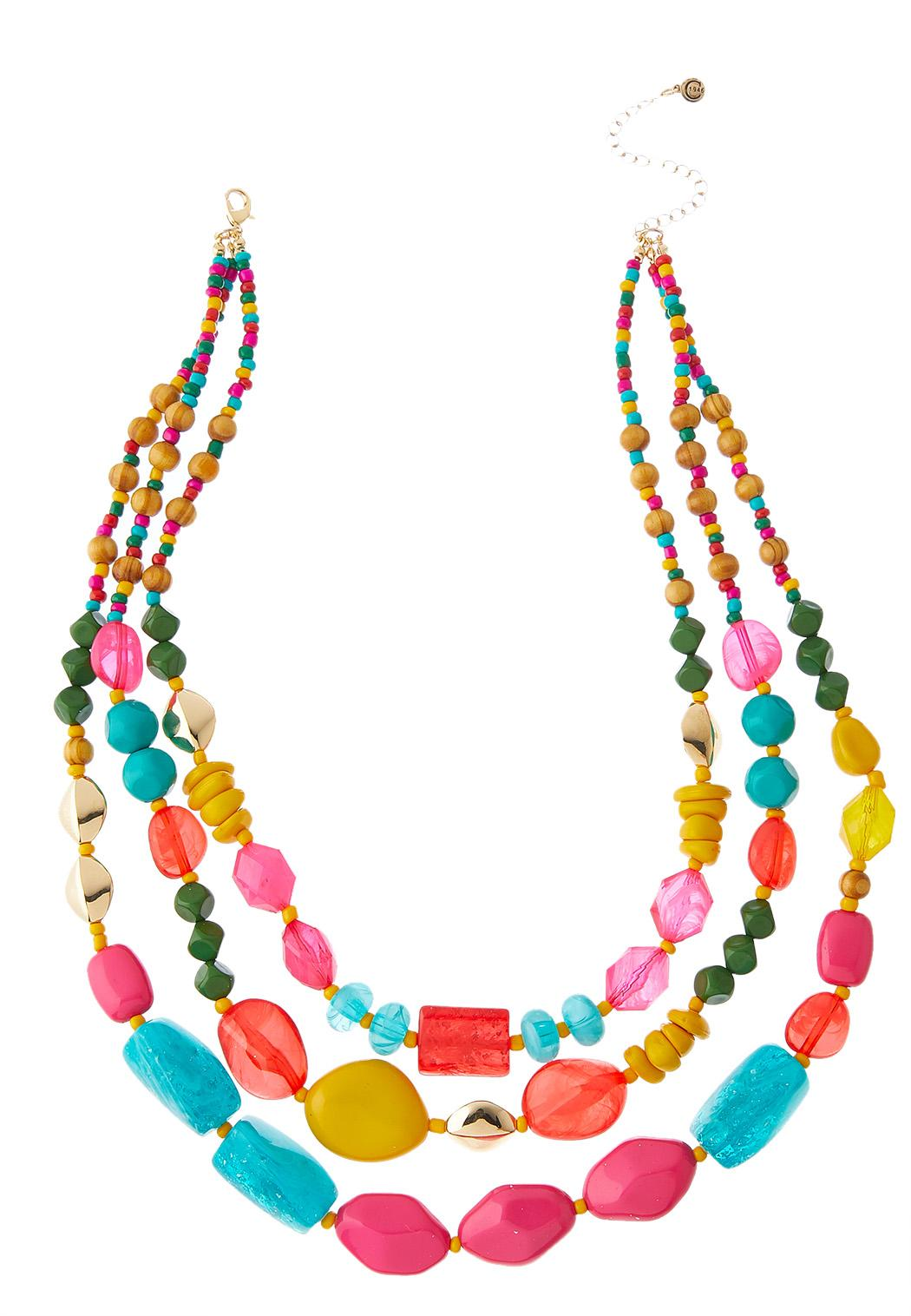 Color Pop Layered Necklace